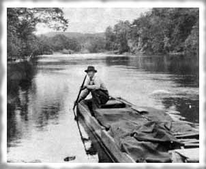 Old John Boat on the White River (photo by Trout Diva)