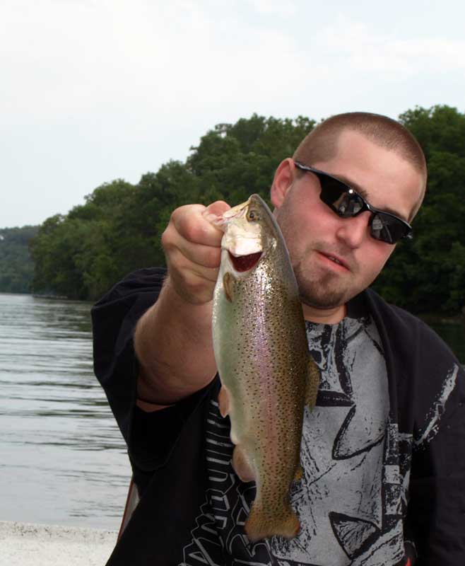 Aaron with another rainbow trout